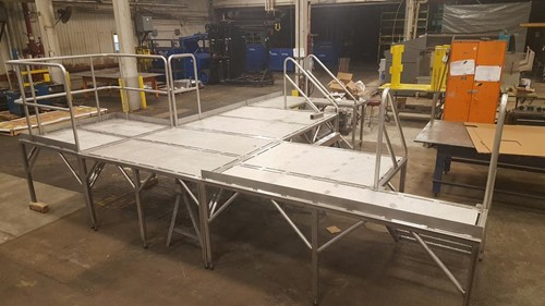 Fabricated this stainless steel platform for an OEM working with a mutual customer in the cheese industry